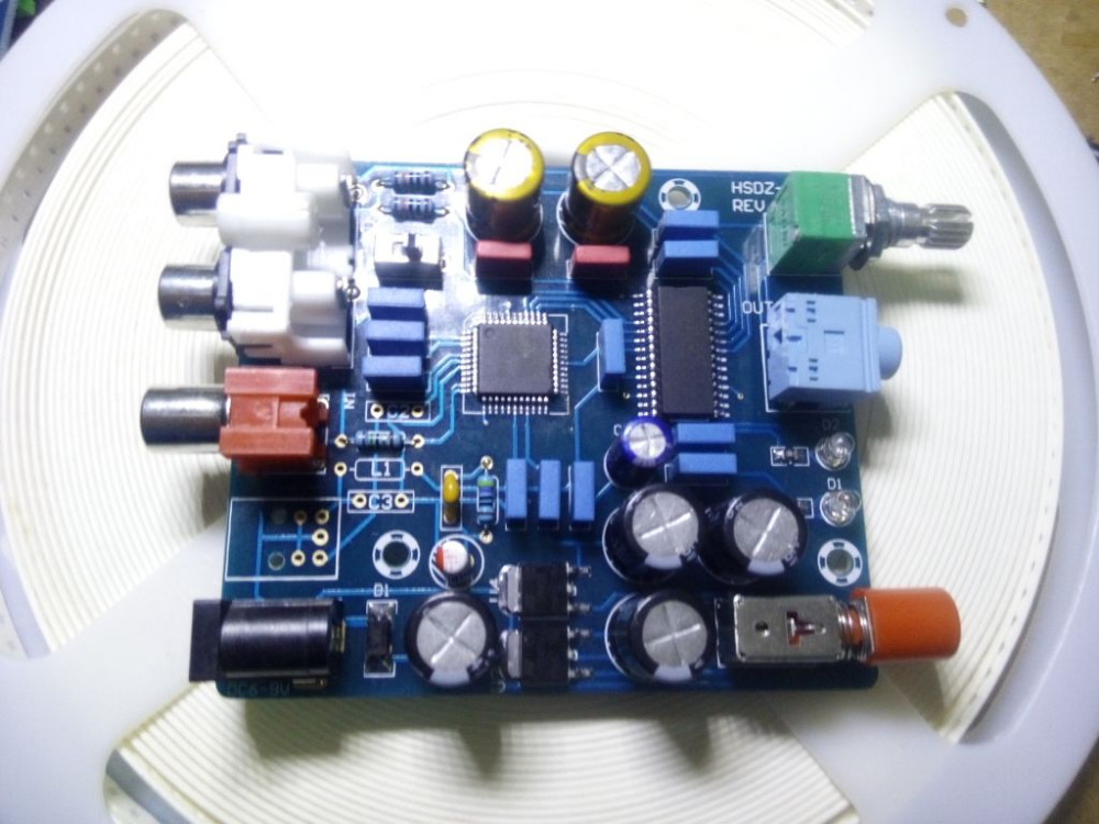 DAC digital decoder board coaxial digital signal input output analog signal with amp output