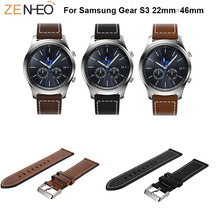 Classic band For Samsung Galaxy Watch 46mm Leather Strap Watch Bands Replacement for Samsung gear S3 Frontier wristband bracelet v moro new genuine leather watch bands gear s3 replacement bracelet for samsung gear s3 classic frontier smart watch