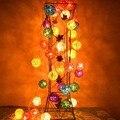 5 m 20 Bolas Luzes Cordas de Fadas Rattan Sepak Takraw Bolas Guirlandas de Natal Tira CONDUZIDA Luz Ao Ar Livre Luzes De Decoração De Casamento