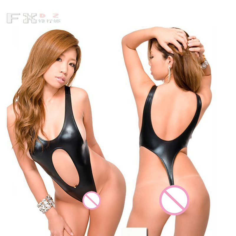 Luggage & Bags Tireless Sexy Plus Size Faux Leather Latex Bodysuit Hollow One Piece Swimwear Backless High Cut Swimsuit Moto & Biker Dance Wear Fx62 Mild And Mellow