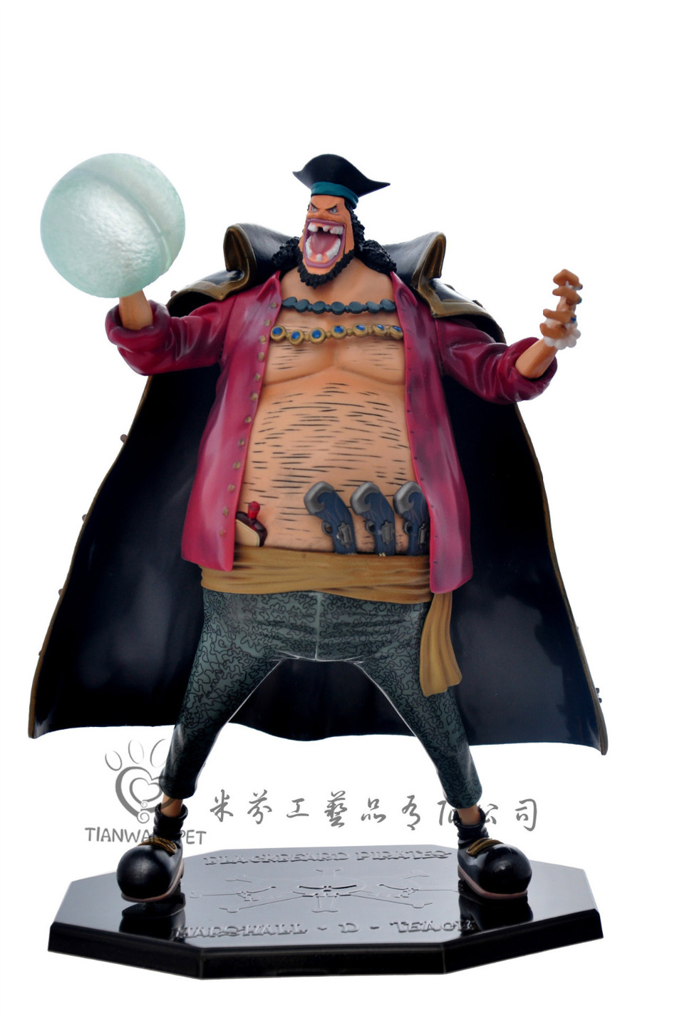 Classic Anime 25cm One Piece POP Blackbeard Edward Teach Anime Collectible Action Figures PVC Collection toys christmas gift anime one piece dracula mihawk model garage kit pvc action figure classic collection toy doll