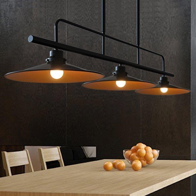 Loft vintage pendant lights Iron Pulley Lamp Bar Kitchen Home Decoration E27 Edison Light Fixtures