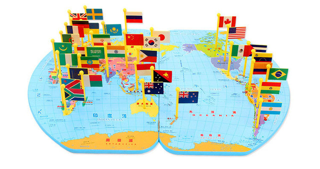 World map jigsaw puzzle wooden toys for children to understand the world map jigsaw puzzle wooden toys for children to understand the world geography puzzle inserted flag gumiabroncs Images