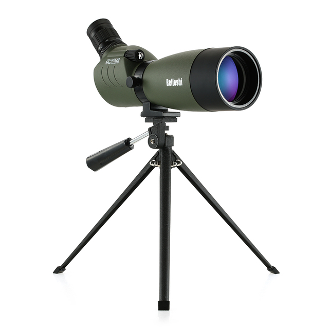 20 60x60 Telescope Waterproof Angled Spotting Scope Monocular With Tripod Carry Case For Bird Watching Traveling