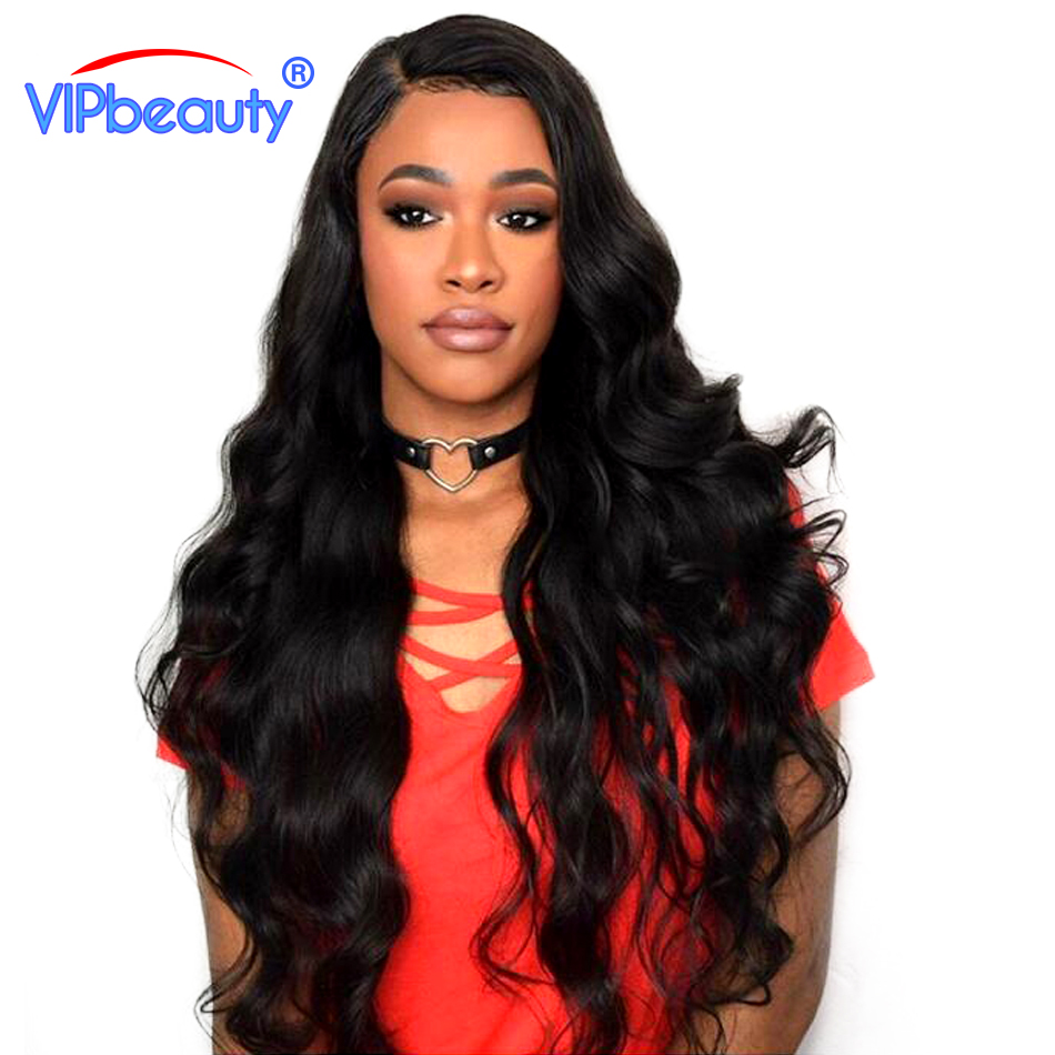 Vipbeauty Brazilian Body Wave Hair Extensions Non-Remy Hair 100% Human Hair Weave Bundles Natural Color 10-28 Inch