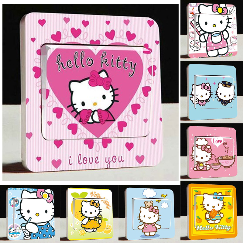 Super Cute Hello Kitty Kitty Light Switch Stickers