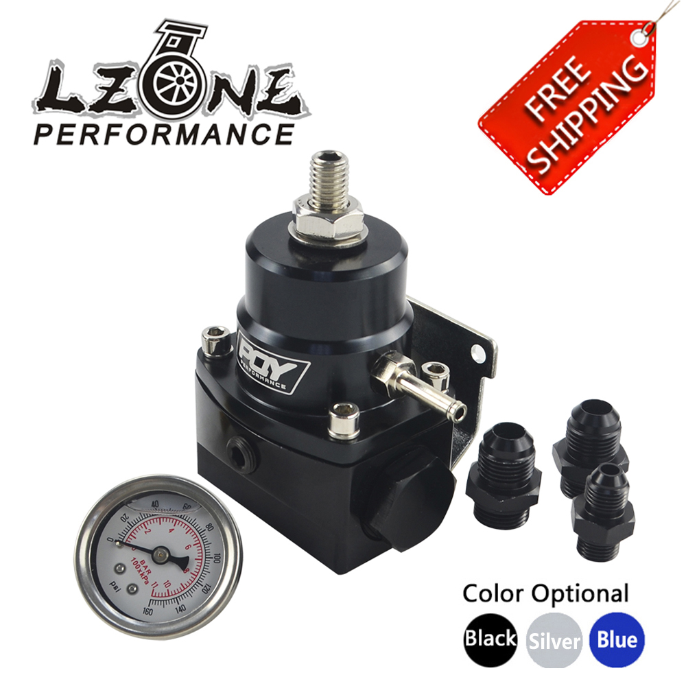 Image 1 - FREE SHIPPING   AN8 high EFI pressure fuel regulator w/ boost  8AN 8/8/6 PQY Fuel Pressure Regulator with gauge JR7855-in Oil Pressure Regulator from Automobiles & Motorcycles
