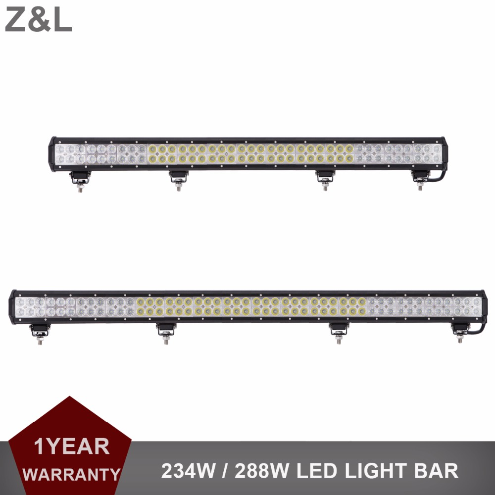 Offroad 234W 288W LED Light Bar 12V 24V 37 45 Car Auto Truck Trailer Wagon Camper 4X4 4WD AWD UTE Pickup ATV Driving Headlight offroad 234w led light bar 37 12v 24v off road atv auto suv ute 4x4 truck trailer tractor boat yacht wagon pickup headlight