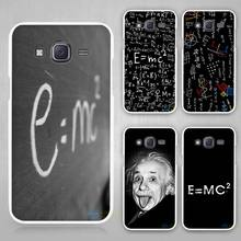 Cool E = MC2 Einstein's equation phone case / cover for Samsung Galaxy J1 J2 J3 J5 J7 C5 C7 E5 E7 2016 2017 Emerge