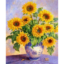 Diy diamond painting Cross stitch kit Sunflower 30*40cm Handicraft and art Needlework 3d square drill mosaic Diamond Embroidery(China)