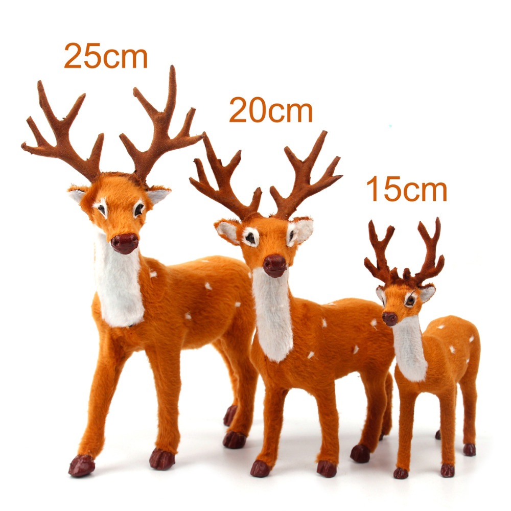 Aliexpress.com : Buy FENGRISE 15 20 25cm Reindeer Christmas Deer ...