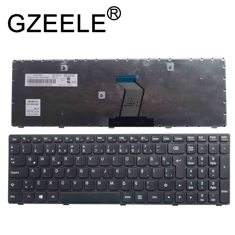 GZEELE New Turkey Turkish TR Laptop Keyboard For Lenovo G500 G510 G505 G700 G710 G505A G700A G710A TR Laptop Keyboard Black