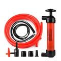 Siphon Transfer Pump Kit Fuel Oil Gas Any Liquid Kerosene Air Fluid Hand Adapter
