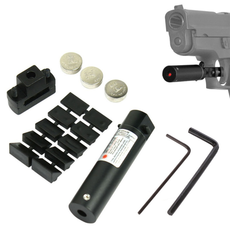 Outdoor Tactical Hunting Mini Red Dot Laser Sight for Pistol Handgun With Universal Mount Scope Accessories