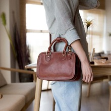New leather large capacity retro casual simple handbag original handmade literary shoulder bag
