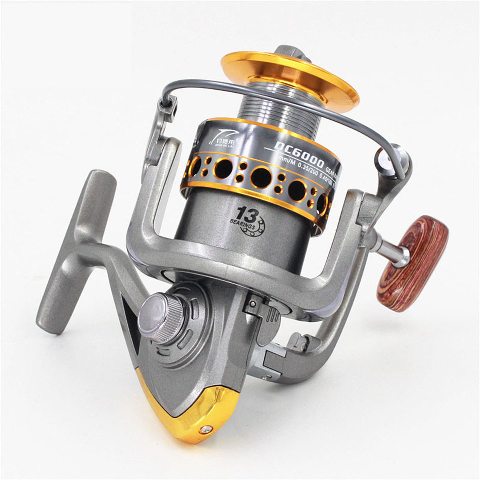 2017 New Arrival Hot 13BB fish ratio 5.2:1 1000-7000 Series Spinning Fishing Reel crank handle Freshwater Saltwater