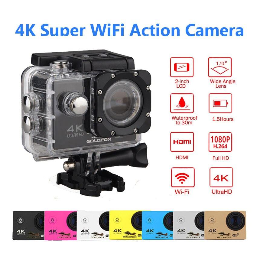 Top H9 Style 4 K caméra d'action WiFi 1080 P HD deportiva Ultra 170D étanche pro casque de vélo caméra Mini sport Action vidéo - 4