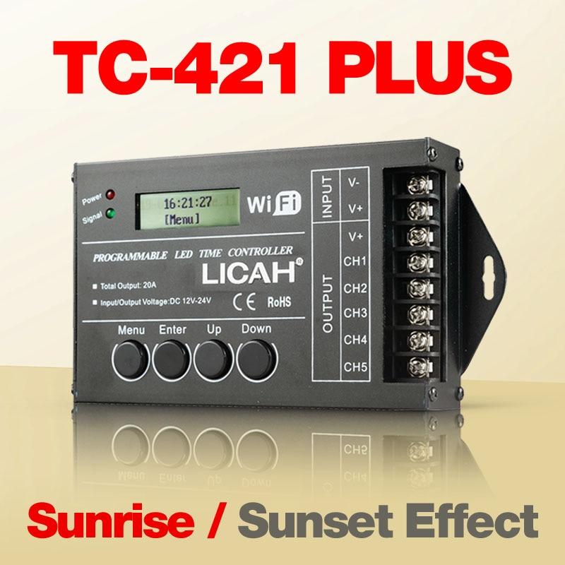 LICAH TC-421 PLUS LED Temporizador Controlador de luz do sol pôr do sol efeito maker