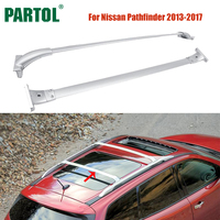 Partol 2Pcs Set Car Roof Racks Cross Bars Crossbars Kit 68kg 150LBS Cargo Luggage Snowboard Carrier