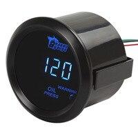Digital Blue LED Electronic Car Auto Oil Pressure Press Gauge Sensor Engine Test Kit 1 120 PSI for Car Trucks