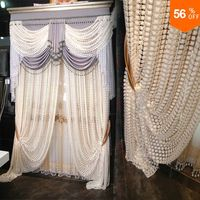18 Luxury valance tulle curtain bedroom embroidered white curtain tulle beaded white curtains valance summer door bead curtains