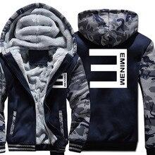 Xijun Eminem sudaderas con capucha de invierno chaquetas de los hombres Hip  Hop abrigos moda hombres 6a8a1c30b72