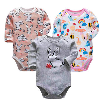 3 pieces/lot 100% Cotton Baby Bodysuit Newborn Cotton Body Baby Long Sleeve Underwear Infant Boys Girls Clothes Baby's Sets 3 pieces lot 100