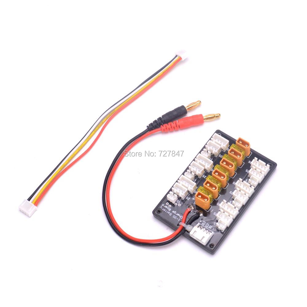 New XT30 Adaptor 1-3S 1S 2S 3S LiPo Battery Charging Charge Board With JST JST-PH 2.0 Connector for RC Quadcopter