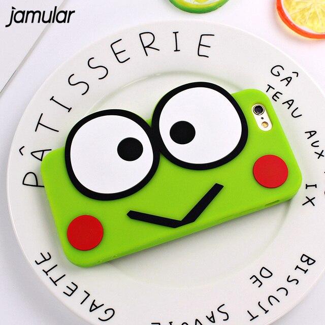 jamular olho grande sapo verde padrão case para iphone 8 plus 7 6 s