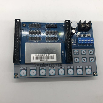 V4.0 led display screen unit modules multi-function test card Support Single/Doule Color/RGB LED module testing,aging ,repair