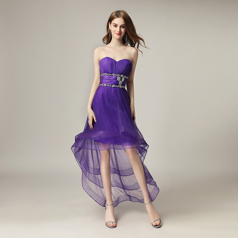 2018 Fashion Asymmetrical Homecoming Dresses Sweetheart Short Formal ...