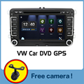 2 DIn Автомобильный DVD 2015 Новый 7 ''HD Для VW POLO GTI GOLF 5 6 MK5 MK6 JETTA PASSAT B6 Touran Sharan С GPS Навигации Радио RDS