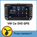 Carro 2 DIn DVD 2015 Novo 7 ''HD Para VW POLO GTI GOLF 5 6 JETTA MK5 MK6 PASSAT B6 Touran Sharan Com GPS de Navegação Rádio RDS