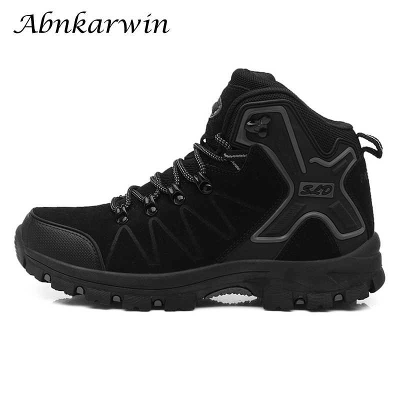 Hiking Shoes Men Boots Waterproof Outdoor Trekking Sneakers Climbing Mountain Tracking 2019 Man Laces Treking Zapatillas Hombre