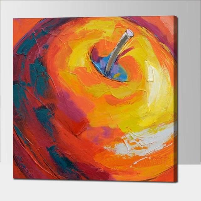 Tienda Online Pintado a mano abstracta moderna amarillo manzana ...