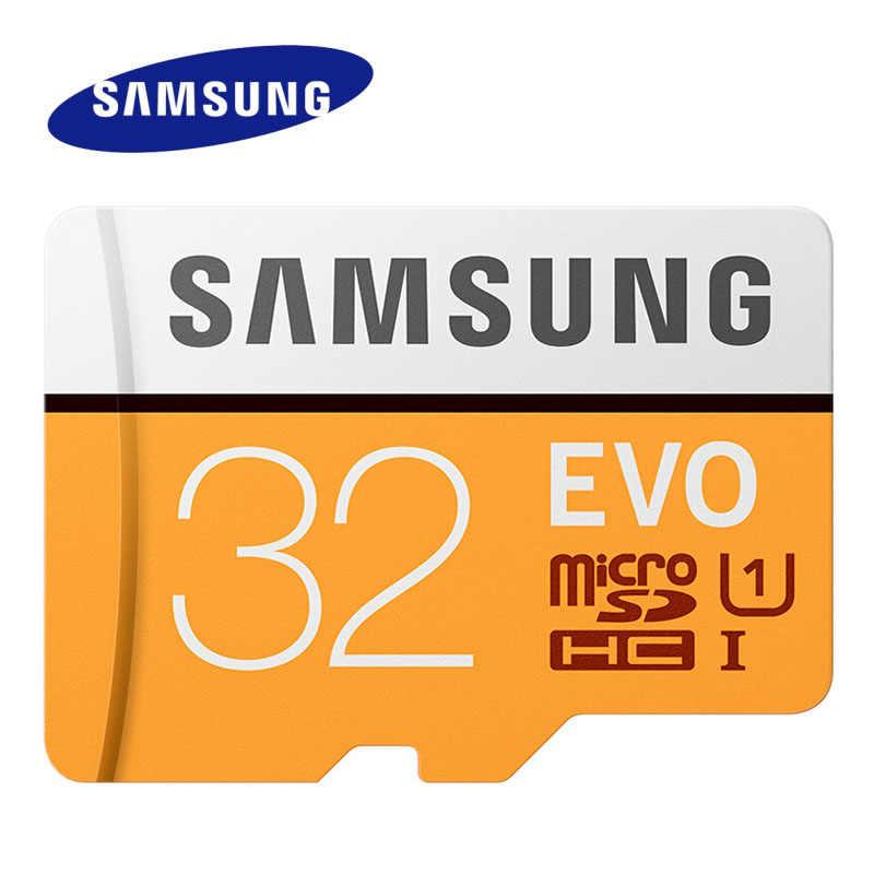 2017 سامسونج بطاقة الذاكرة EVO ماكس قراءة السرعة 95 متر/الثانية مايكرو SD 64GB 32GB الفئة 10 بطاقة ميكروسد C10 UHS-I عبر فلاش بطاقة ميكروسد