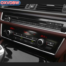 цена на For BMW F10 5 Series Interior Trim  Air conditioning CD Control Panel Cover Trim Car Styling 520i Accessories ABS