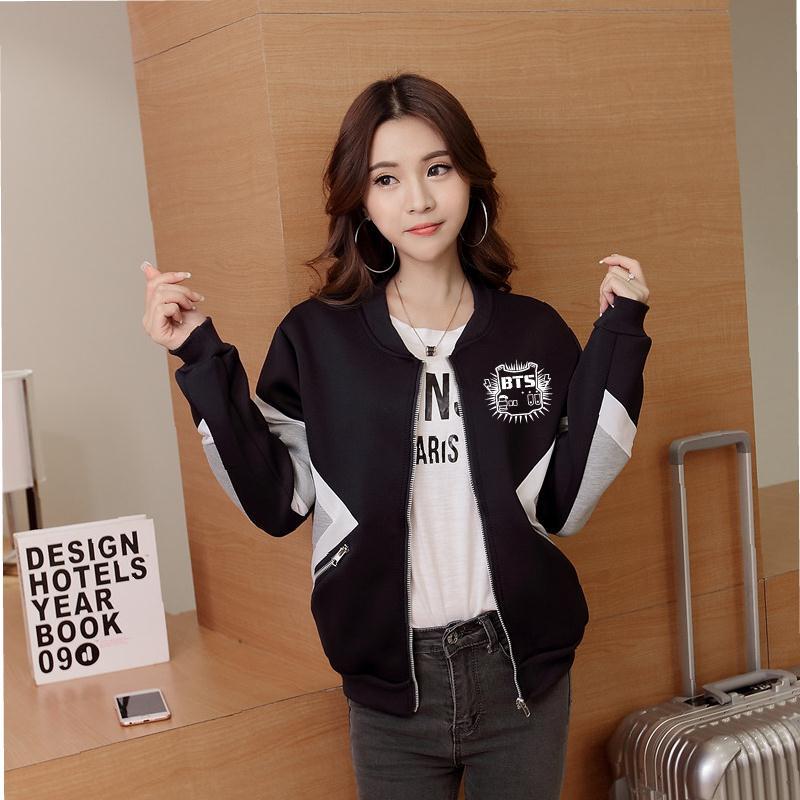 Bts Kpop Bangtan Boys Baseball Uniform Jungkook Jhope Jin Jimin V Suga Rap Monster Jacket High Quality Hoody Sweatshirt K-pop At All Costs Women's Clothing