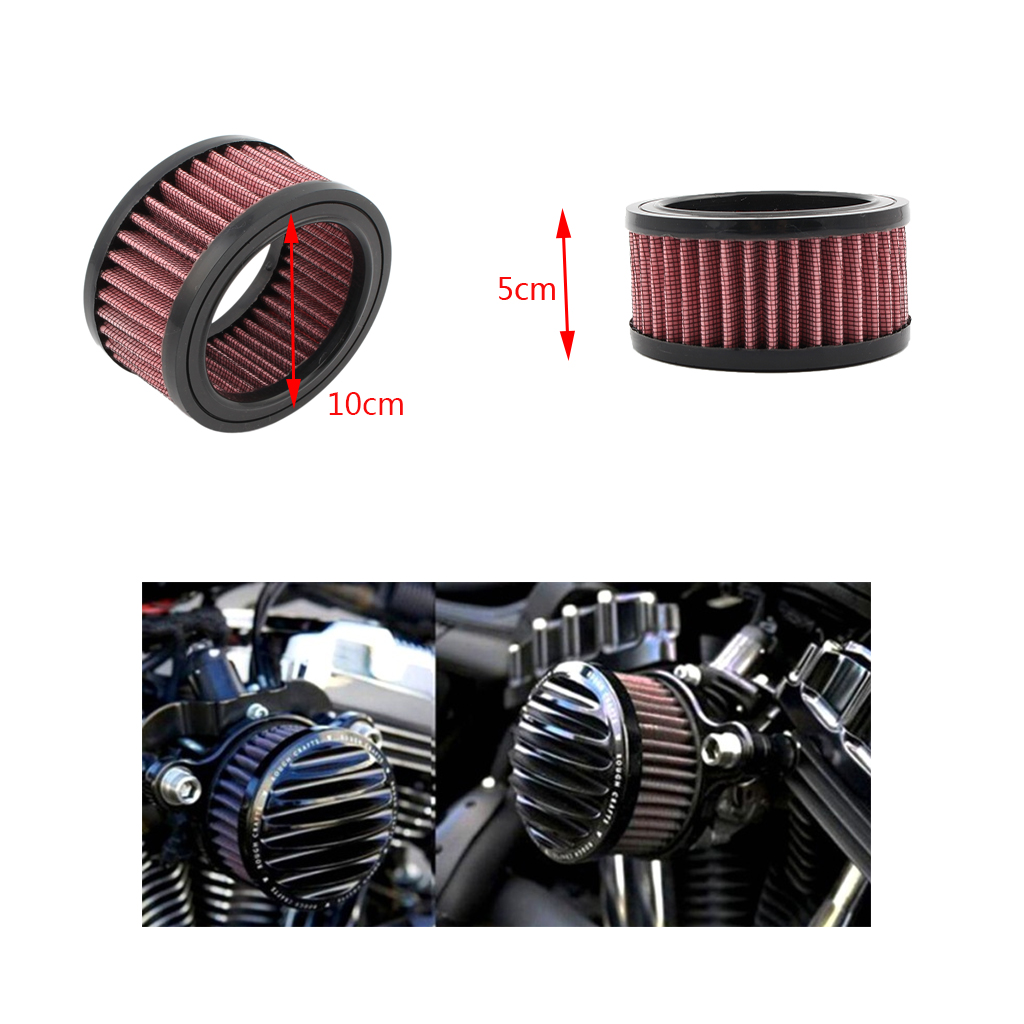 "Image 5 - 1 Pcs Universal Motorcycle Air Filter 4""  Air Intake Filter For Harley Sportster XL883 XL1200 X48 Etc Motorbike Accessories-in Air Filters from Automobiles & Motorcycles"
