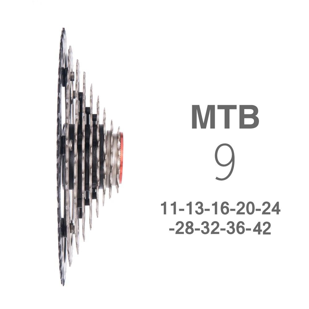 9 vitesses 11-42 T vtt roue libre VTT pièces de vélo 9 s 42 t 9 s 27 s Cassette large RATIO Compatible pour M430 M4000 M590