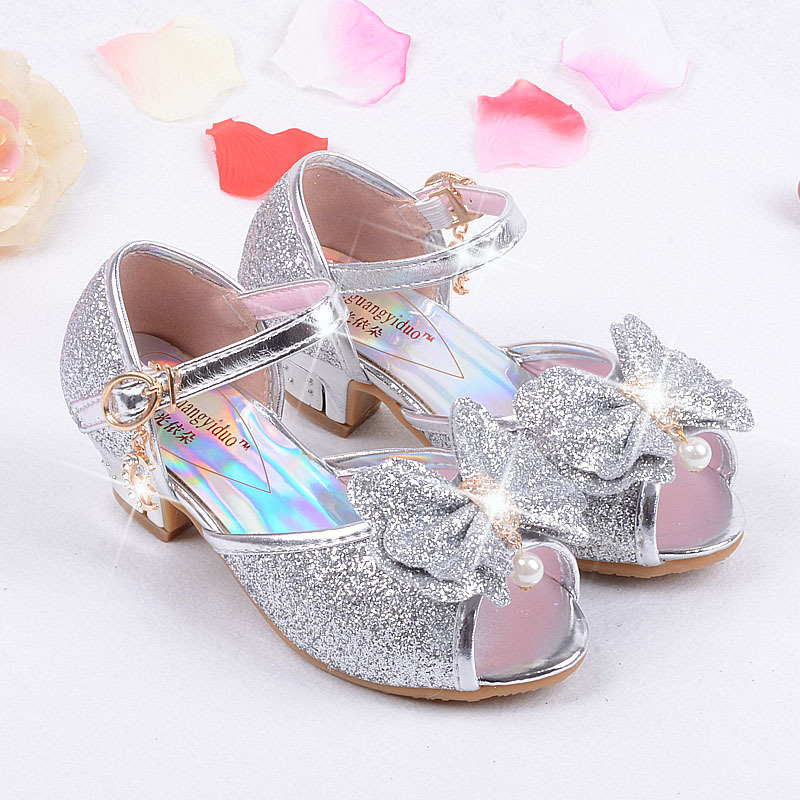 JUSTSL Children new high heels party sandals princess style ...