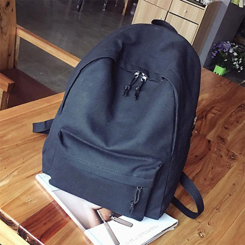 Canvas Plain Women Backpack New Japan Ring Leisure Travel Backpack For Girl Female Shoulder Bag Rucksack Mochila My Bagpack