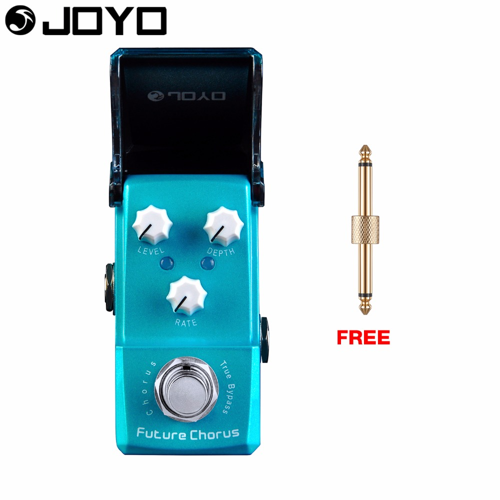 Joyo Future Chorus Guitar Effect Pedal True Bypass Level Control Depth Control JF-316 with Free Connector mooer ensemble queen bass chorus effect pedal mini guitar effects true bypass with free connector and footswitch topper