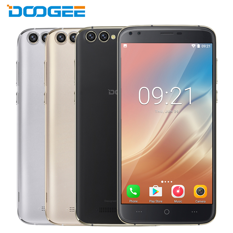 Original Doogee X30 <font><b>Cell</b></font> <font><b>Phone</b></font> 5.5 inch HD Screen <font><b>2GB</b></font> <font><b>RAM</b></font> 16GB ROM Quad Core MT6580 Android 7.0 8MP 4 Cameras 3360mAh Smartphone