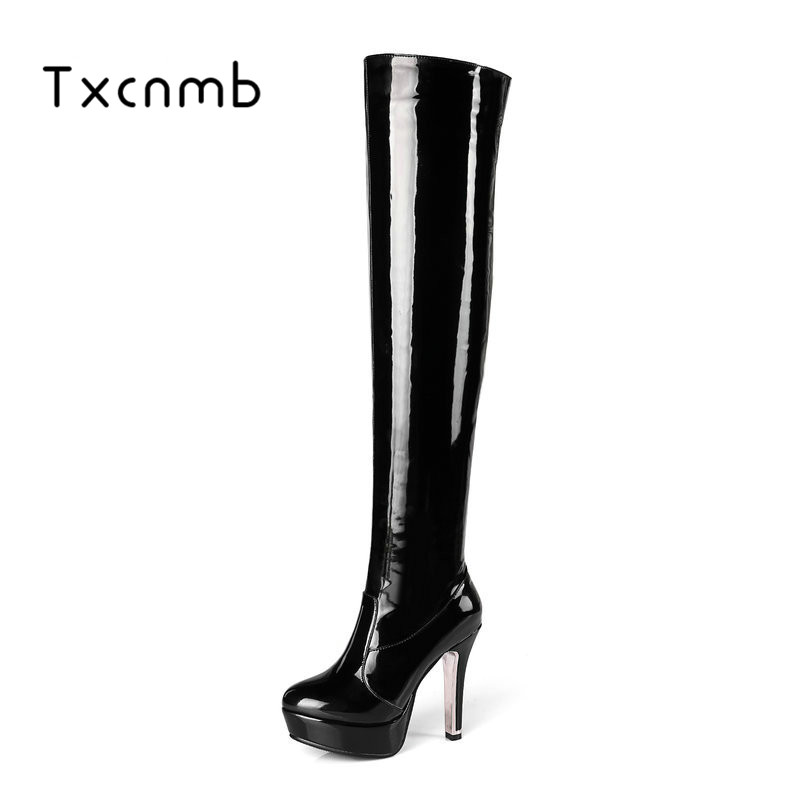 Salu Thigh High Boots zipper Women Winter High Boots Over the Knee Boots High Heels Autumn boots Sexy Fashion Shoes Women 2014 autumn and winter fashion women s knee high boots warm boots flat shoes sexy high boots women s boots xy086