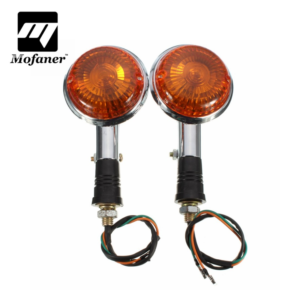 6 volt motorcycle turn signals chrome with amber lens 2 pcs per order