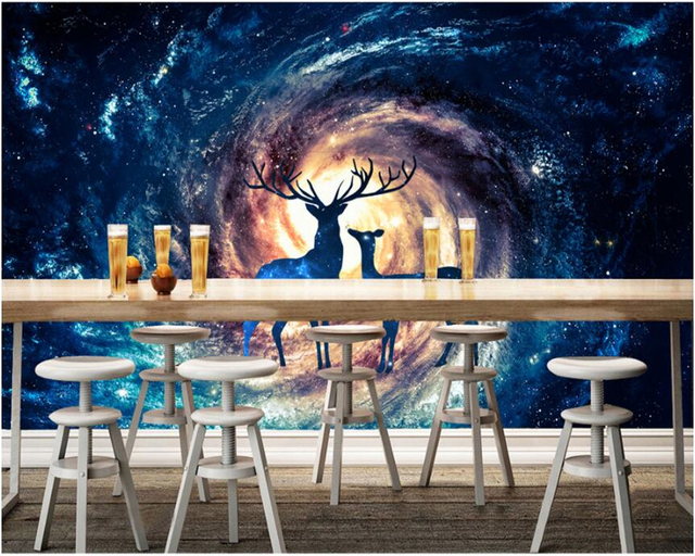 Beibehang 3d Wallpaper Fantasy Universe Stars Love The Eternal Decorative  Painting Background Wall Papel De Parede