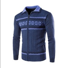 2016 spring and autumn new men's sweater Slim, stylish and comfortable men's casual long-sleeved turtleneck sweater coat