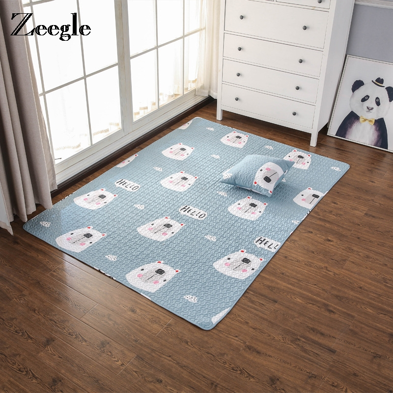 Zeegle Dreaming Kids Room Bedroom Carpets For Living Room Cotton Carpet Cartoon Animal Home Decor Mat Carpet Crawling Rugs