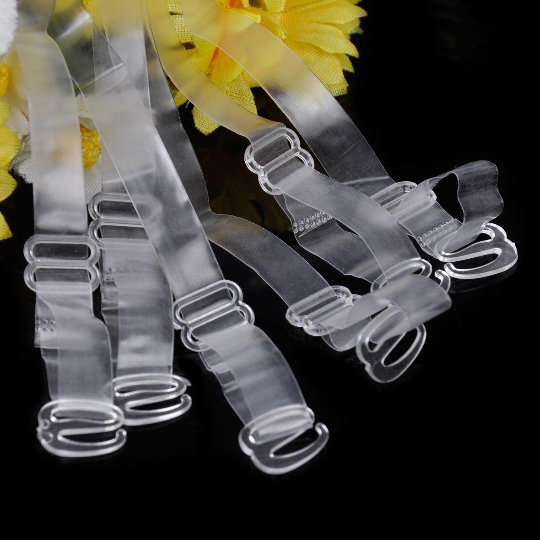 New 6 Pairs Ladies Bra Shoulder Straps Invisible Clear Transparent Adjustable Clasp Hook Woman 1cm Shoulder Straps 5